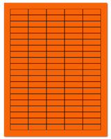 "1.5"" X 0.5"" Fluorescent Orange Sheets"