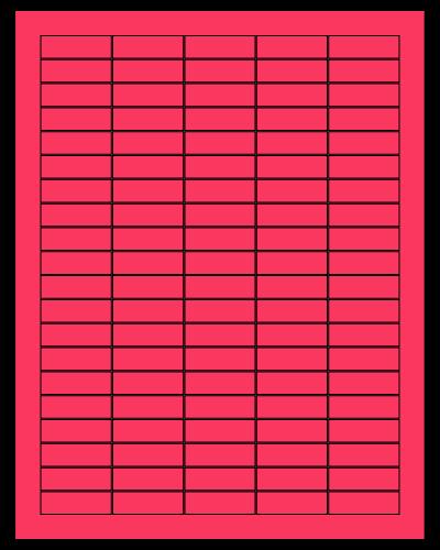 "1.5"" X 0.5"" Fluorescent Pink Sheets"