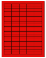 "1.5"" X 0.5"" Fluorescent Red Sheets"