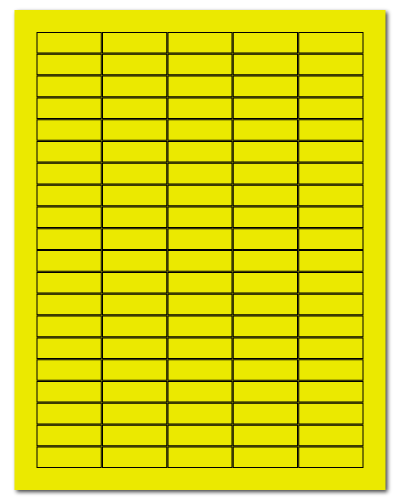 "1.5"" X 0.5"" Fluorescent Yellow Sheets"