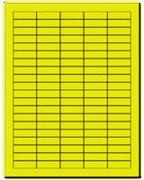 "1.5"" X 0.5"" Fluorescent Yellow Sheets"