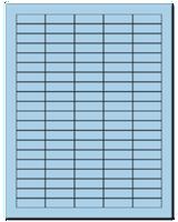 "1.5"" X 0.5"" Pastel Blue Sheets"