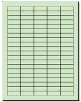 "1.5"" X 0.5"" Pastel Green Sheets"