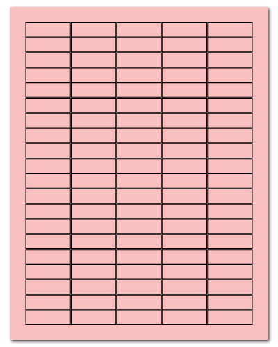 "1.5"" X 0.5"" Pastel Pink Sheets"
