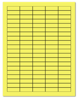 "1.5"" X 0.5"" Pastel Yellow Sheets"