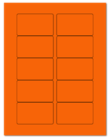 "3.0625"" X 1.8375"" Fluorescent Orange Sheets"