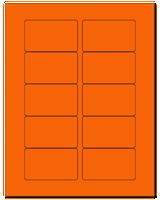 "3.0625"" X 1.8375"" Fluorescent Orange Sheets"