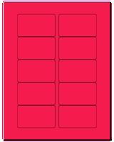 "3.0625"" X 1.8375"" Fluorescent Pink Sheets"