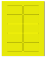 "3.0625"" X 1.8375"" Fluorescent Yellow Sheets"