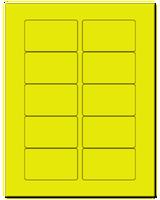 "3.0625"" X 1.8375"" Fluorescent Yellow Sheets"
