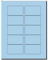 "3.0625"" X 1.8375"" Pastel Blue Sheets"