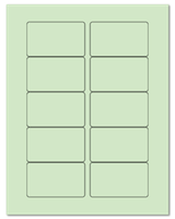 "3.0625"" X 1.8375"" Pastel Green Sheets"