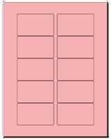 "3.0625"" X 1.8375"" Pastel Pink Sheets"