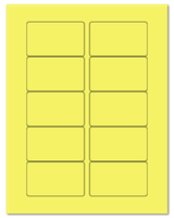 "3.0625"" X 1.8375"" Pastel Yellow Sheets"