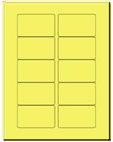 "3.0625"" X 1.8375"" Pastel Yellow Sheets"