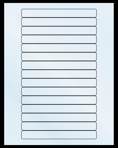 "5.8125"" X 0.6875"" Frosty (Matte) Clear Sheets"