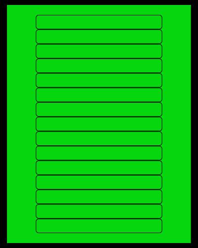 """5.8125"""" X 0.6875"""" Fluorescent Green Sheets"""