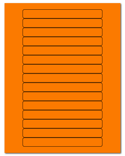 "5.8125"" X 0.6875"" Fluorescent Orange Sheets"