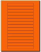 "5.8125"" X 0.6875"" Fluorescent Orange Sheets"