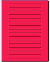 "5.8125"" X 0.6875"" Fluorescent Pink Sheets"
