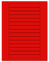 """5.8125"""" X 0.6875"""" Fluorescent Red Sheets"""
