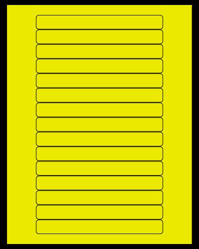 "5.8125"" X 0.6875"" Fluorescent Yellow Sheets"