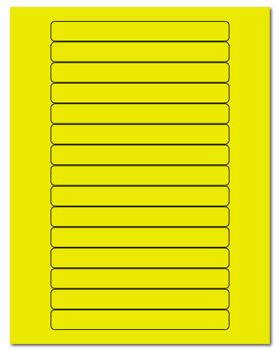"5.8125"" X 0.6875"" Fluorescent Yellow Sheets"