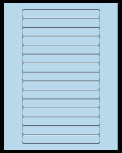 "5.8125"" X 0.6875"" Pastel Blue Sheets"