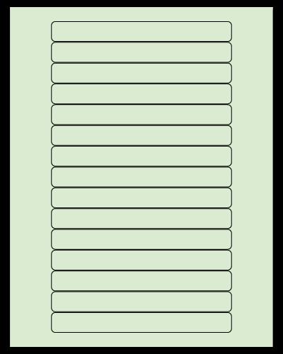 "5.8125"" X 0.6875"" Pastel Green Sheets"