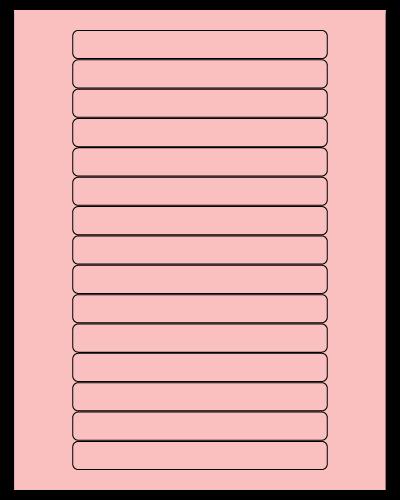 "5.8125"" X 0.6875"" Pastel Pink Sheets"