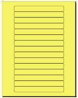 "5.8125"" X 0.6875"" Pastel Yellow Sheets"