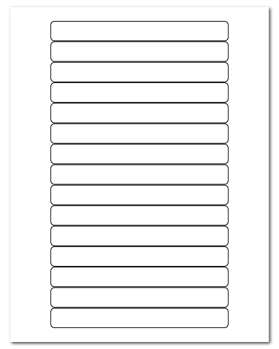 """5.8125"""" X 0.6875"""" White Matte Sheets"""