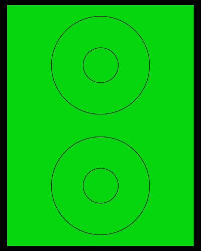 "4.5"" Dia. Fluorescent Green Sheets"