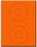 "4.5"" Dia. Fluorescent Orange Sheets"