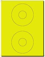 "4.5"" Dia. Fluorescent Yellow Sheets"