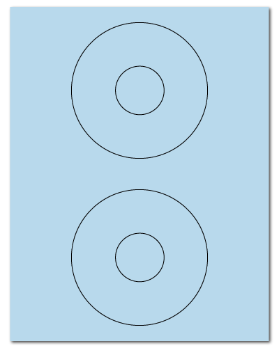 "4.5"" Dia. Pastel Blue Sheets"
