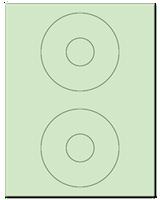 """4.5"""" Dia. Pastel Green Sheets"""