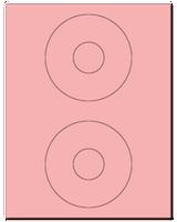 "4.5"" Dia. Pastel Pink Sheets"
