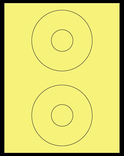 "4.5"" Dia. Pastel Yellow Sheets"