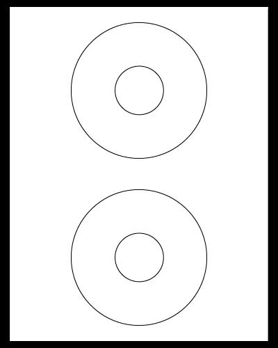 "4.5"" Dia. White Matte Sheets"