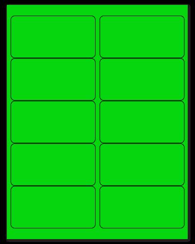 """4"""" X 2"""" Fluorescent Green Sheets"""