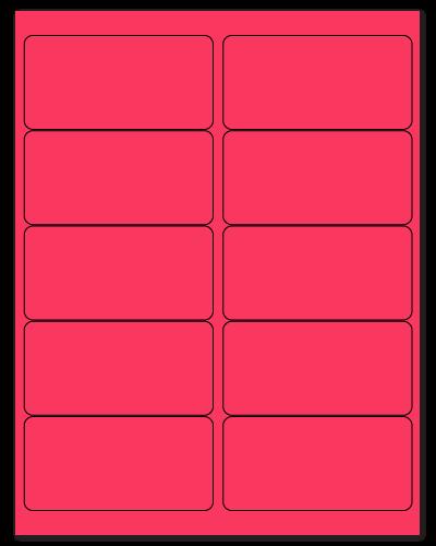 "4"" X 2"" Fluorescent Pink Sheets"