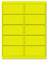 "4"" X 2"" Fluorescent Yellow Sheets"