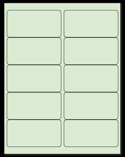"4"" X 2"" Pastel Green Sheets"