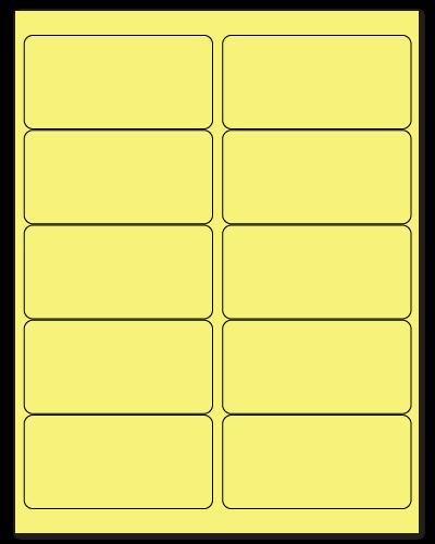 "4"" X 2"" Pastel Yellow Sheets"