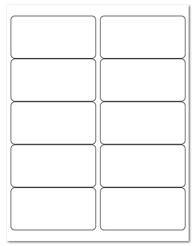 """4"""" X 2"""" White Matte Sheets REMOVABLE Adhesive"""