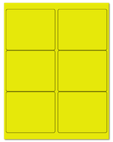 "4"" X 3.33"" Fluorescent Yellow Sheets"