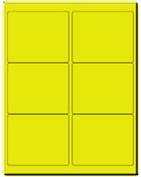 "4"" X 3.33"" Fluorescent Yellow Sheets"