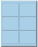 "4"" X 3.33"" Pastel Blue Sheets"