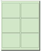 "4"" X 3.33"" Pastel Green Sheets"
